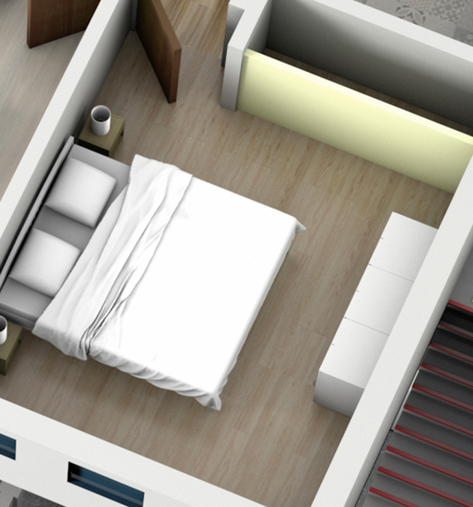 Área privada: quartos