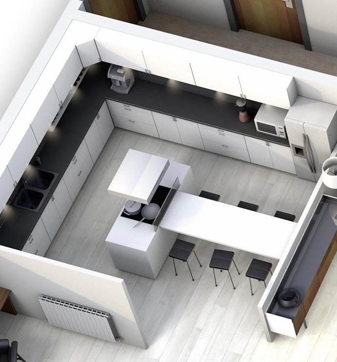 Área privada: cozinha / armazéns